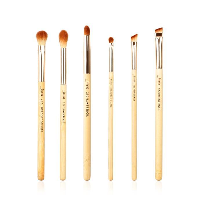 T141 6 PCs Bamboo Series Brush Set - Golden