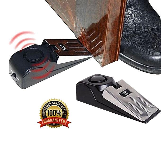 Portable Security Door Stop Alarm - Black and Silver