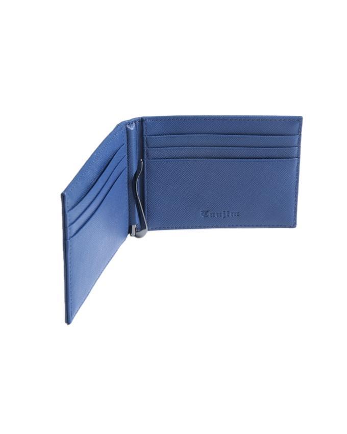 Steel Blue Leather Wallet for Men