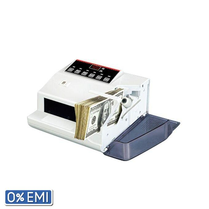 Compact Money Bill Counter With Money Checker - White