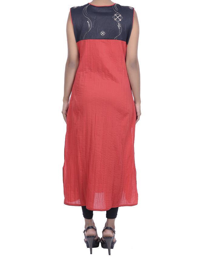 Red Georgette kurti for Women