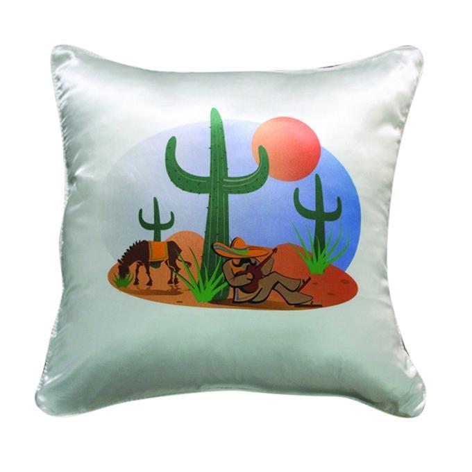Mexican Printed Cushion Cover - White-smoke