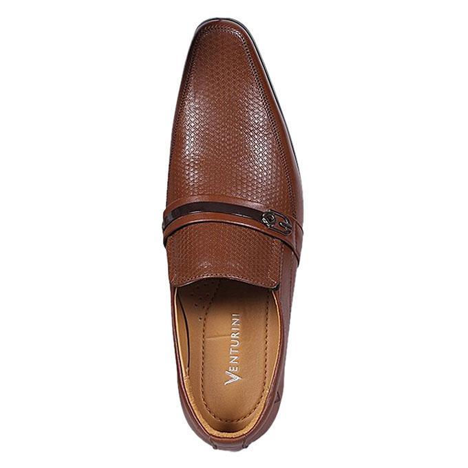 Venturini Light Brown Leather Formal Slip On For Men
