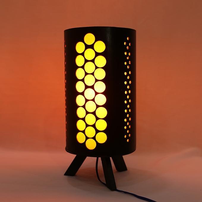 Wood and PVC Corner Light - Black and Yellow