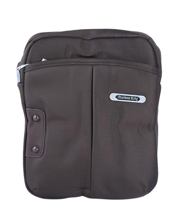 Stylish Polyester Messenger Bag For Men - Light Chocolate