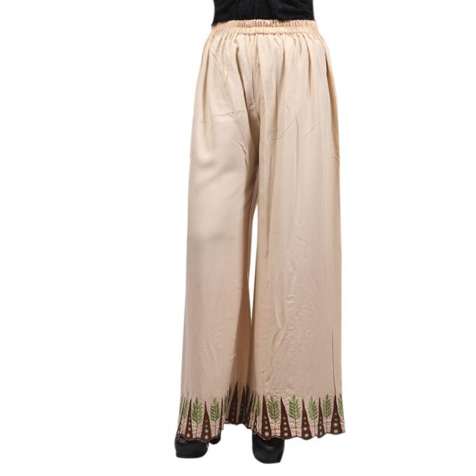 Cream Linen Palazzo For Women