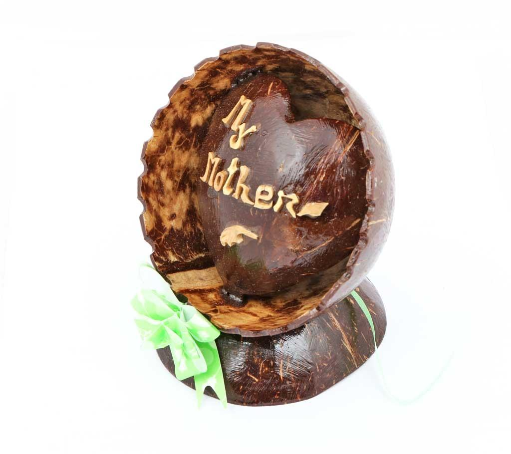 Natural Coconut Shell Gift - My Mother - Chocolate