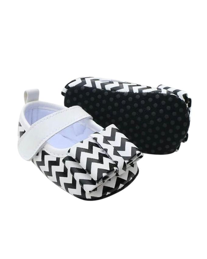 Black And White Cotton Shoe For Baby