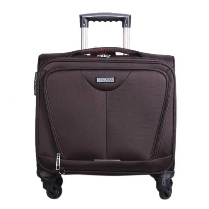 Brown Polystar Trolley Bag For Men