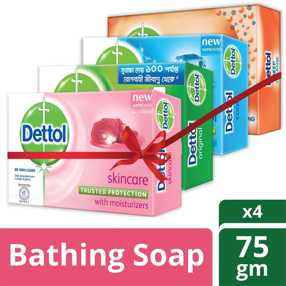 Dettol Daraz Bangladesh Original Series Package Soap Pack Of 4 Variants 75gm X