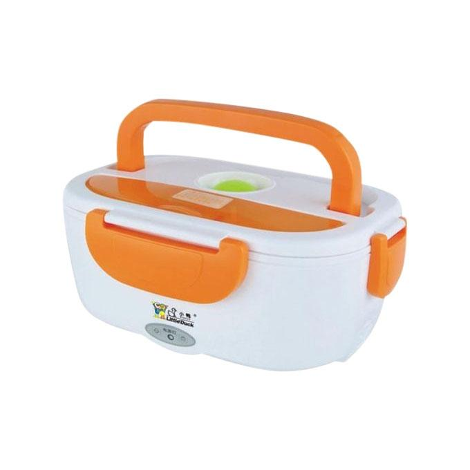 Portable Electric Lunch Box - Orange and White