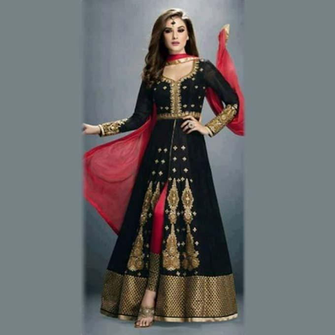 Black Indian Long 3 Pcs For Women