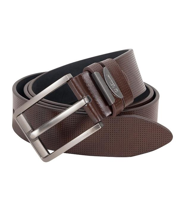 Coffee Leather Formal Belt For Men