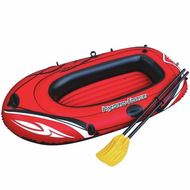 1 Person Hydro Force Inflatable Boat Raft Dinghy Set Bestway With Oars
