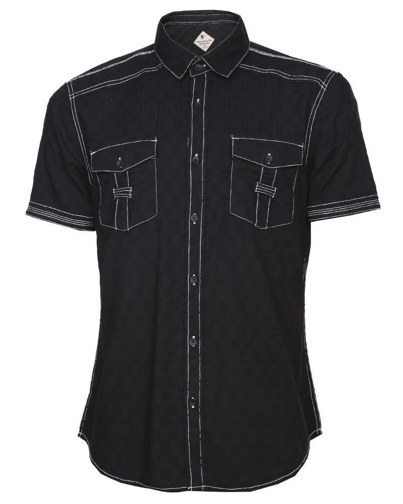 Cotton Casual Shirt - Black