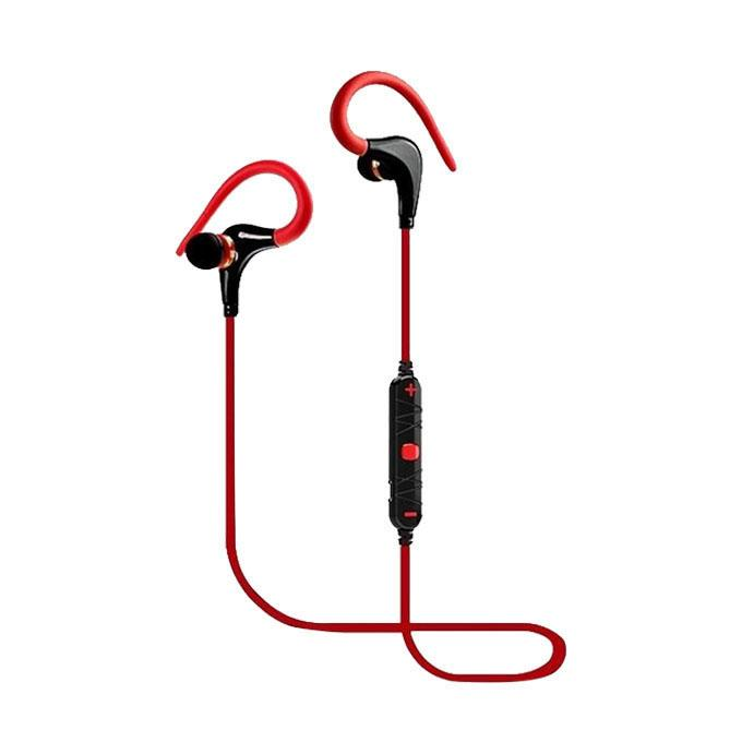 A620BL - in Ear-Bluetooth Headset with Mic - Red