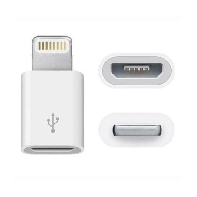 iPhone Port to Micro USB Converter - White