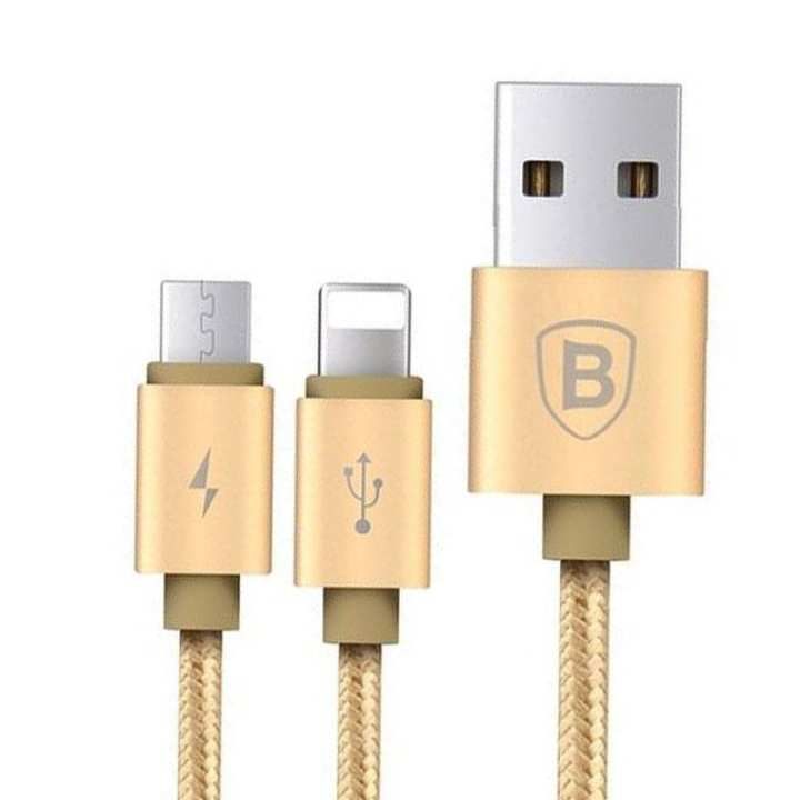 2 in 1 data cable- Golden