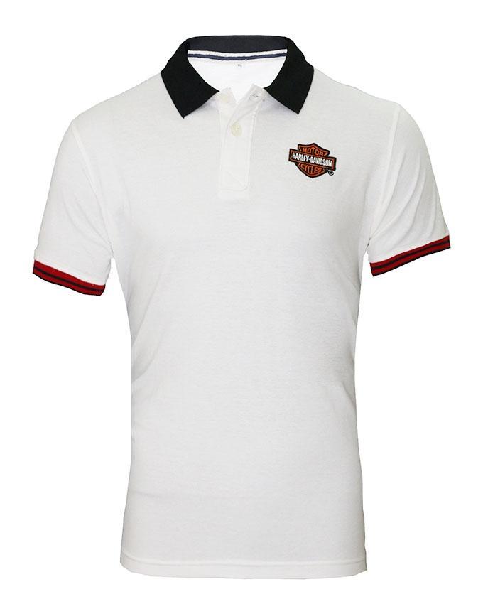 White Cotton Polo For Men