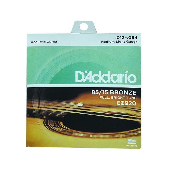 D'Addario EJ39 12-String Phosphor Bronze Acoustic Guitar Strings Medium 12-52