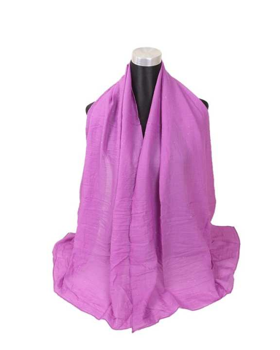 Purple Cotton Hijab For Women
