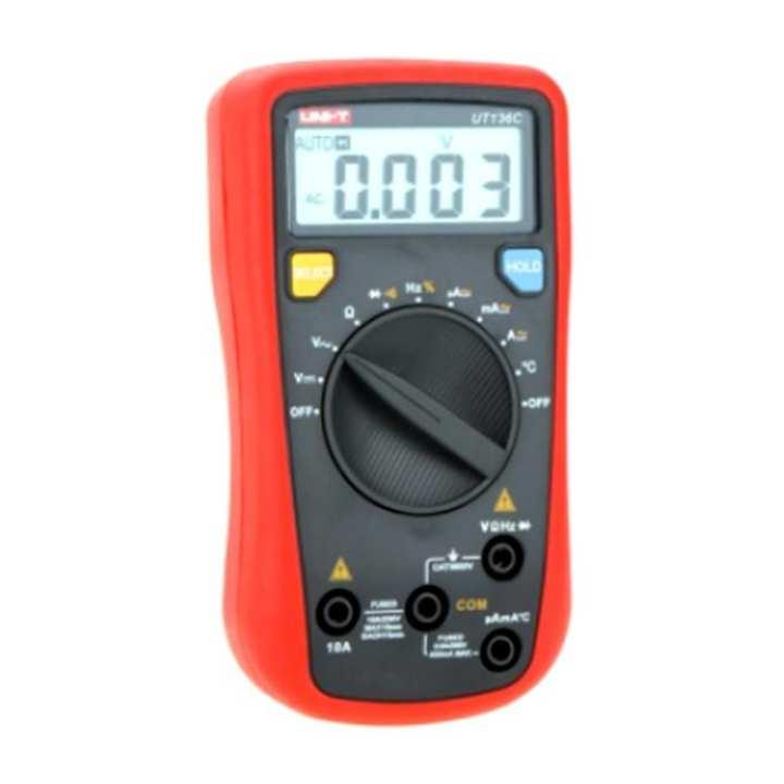 UT136C Auto-Range Multimeter - Red and Black
