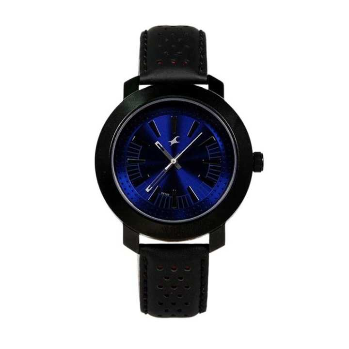 3120NL01 - Leather Wrist Watch For Men - Black