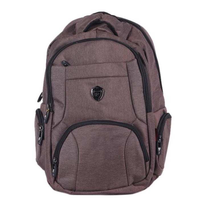 Polyester Backpack For Men - Brown