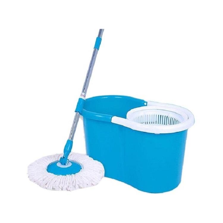 Microfiber Spin Mop - Blue and White