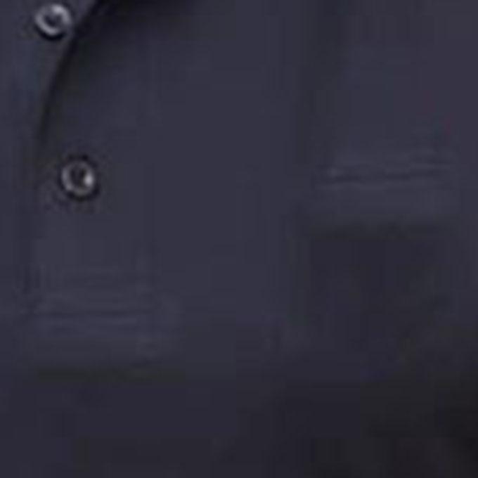 Black Cotton Polo For Men