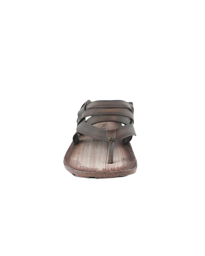 HITZ Leather Casual Sandal For Men - Brown