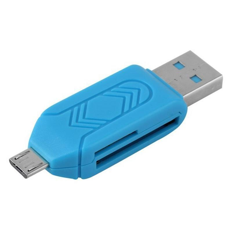 Universal Card Reader for Mobile Phone - Blue