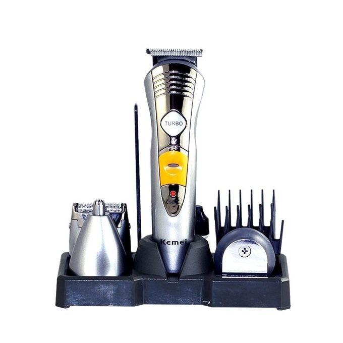 KM-580A 7-in-1 Rechargeable Trimmer and Shaver – Silver