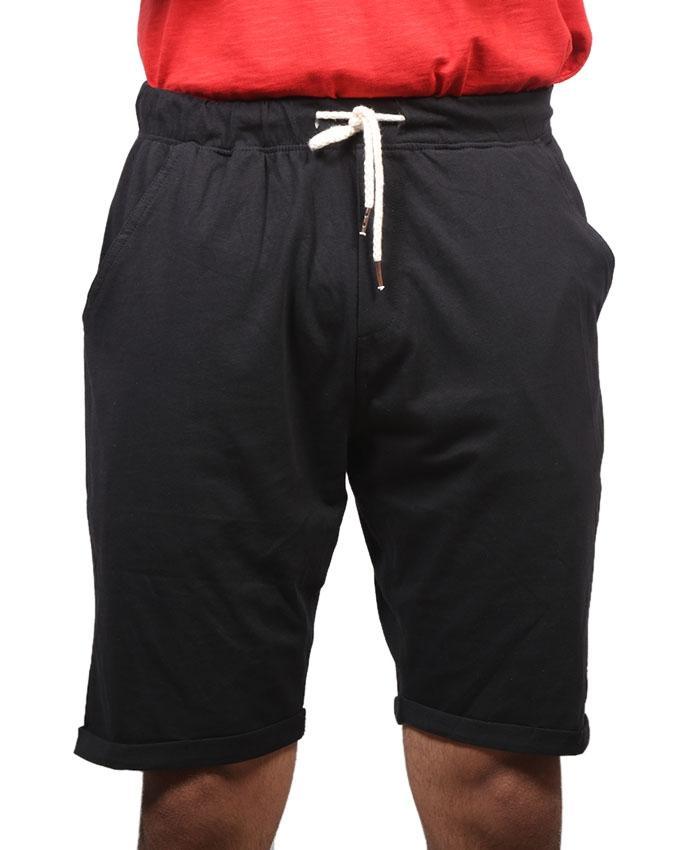 Black Cotton Casual Shorts  for Men