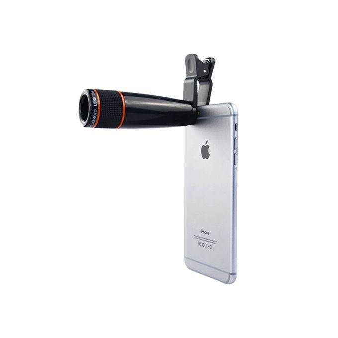 2X Mobile Phone Telescope Lens - Black