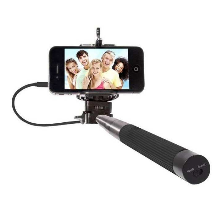Cable Take Pole Selfie Stick - Black