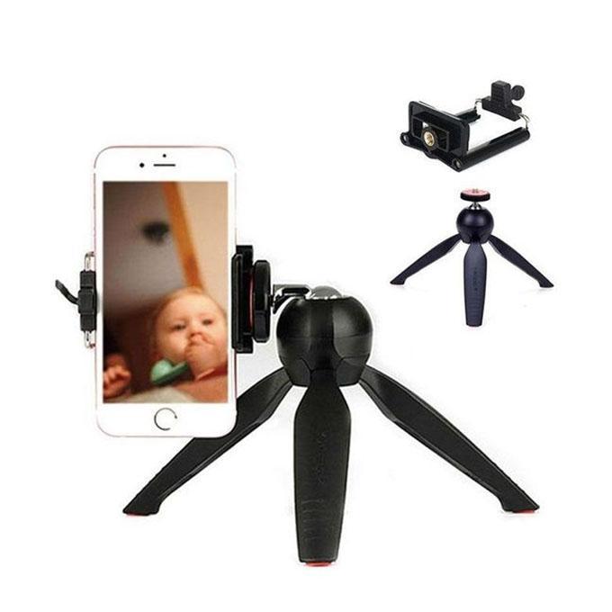 YT-1288 Monopod Selfie Stick and 228 Mini Tripod Holder - Black