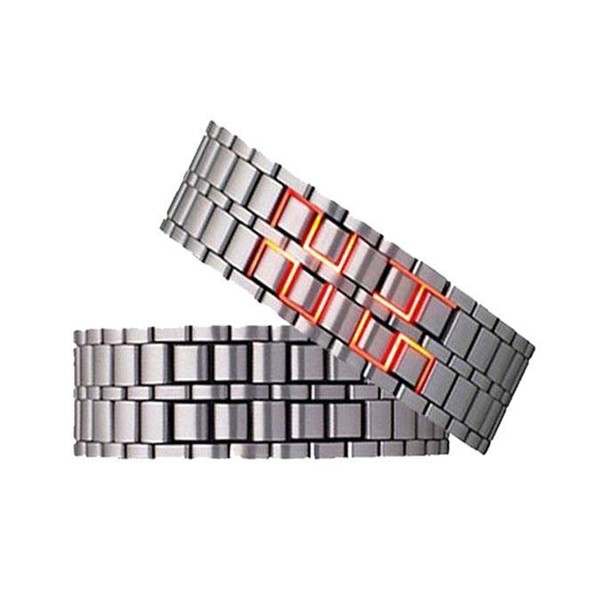 Samurai LED Watch - Silver