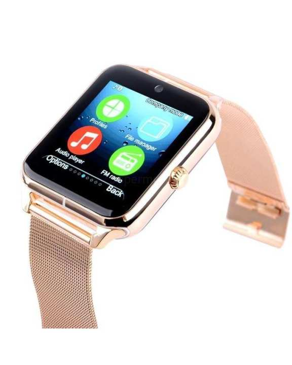 Z50 Single SIM Smart Watch - Rose Gold