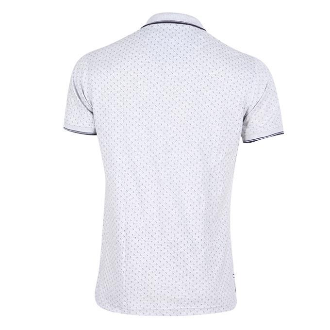 Light Slate Blue Cotton Polo For Men