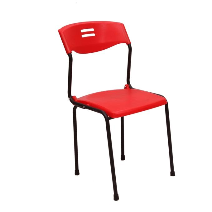 Steel Chair Series - CF-01 Fixed MS - Red