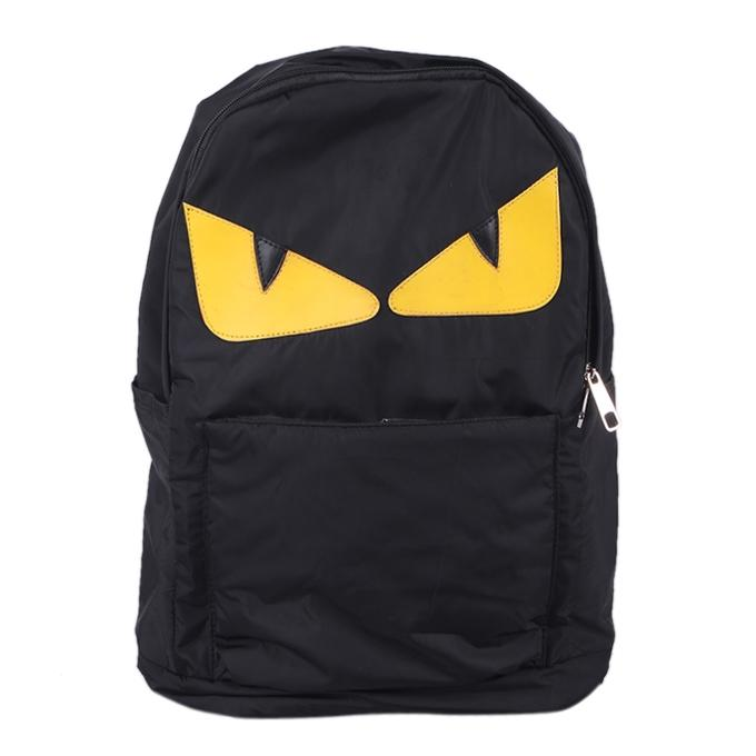 Polyester Backpack For Boys - Black and Yellow