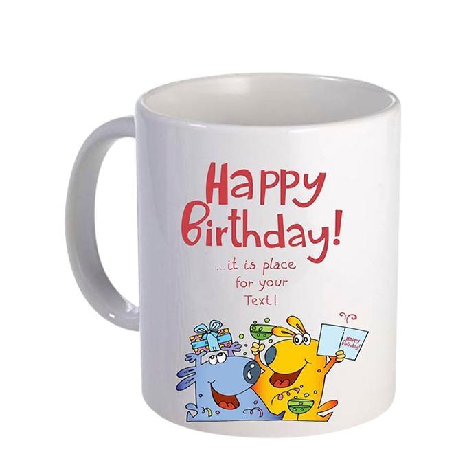 Happy Birthday Mug  Ceramic  Mug - White