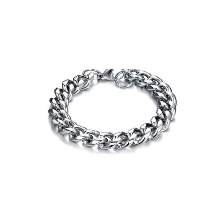 Silver Stainless Steel Bracelet for Men
