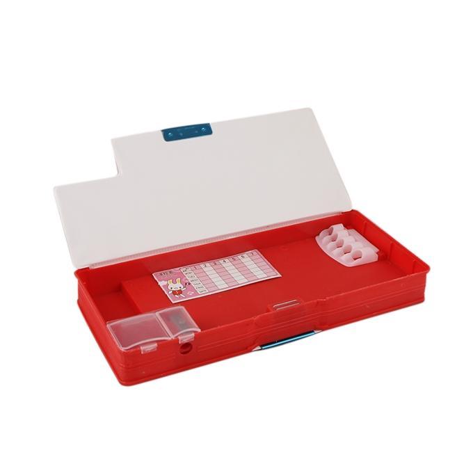 Plastic Pencil Box - Red