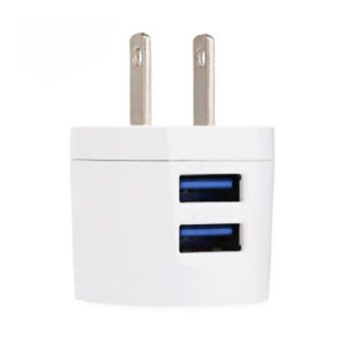 C - 800 Mini Double USB Power Adapter - White