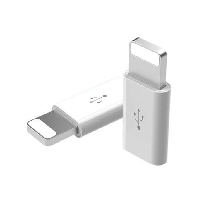 Universal Micro to Lightening Super Magnetic Converter for Apple Device - Silver
