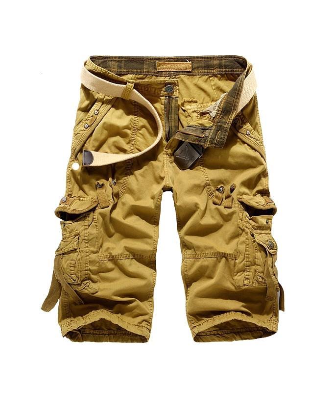 Golden Cotton Shorts For Men