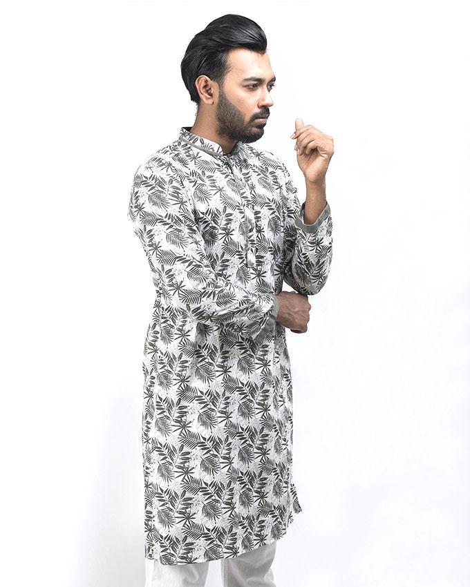 Multi-color Cotton Panjabi For Men