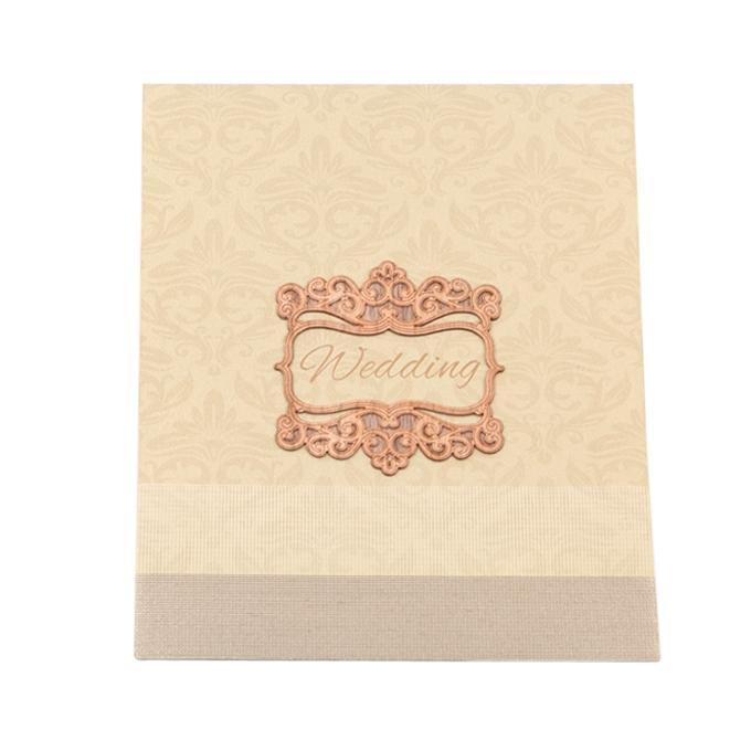 Wedding Card - Golden